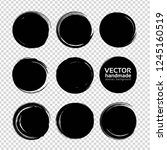 round smears from expressive... | Shutterstock .eps vector #1245160519