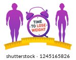 time to lose weight. weight... | Shutterstock .eps vector #1245165826