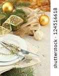 beautiful christmas setting ...   Shutterstock . vector #124516618