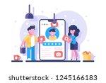 social media personal profile... | Shutterstock .eps vector #1245166183