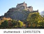 edinburgh castle from princes... | Shutterstock . vector #1245172276