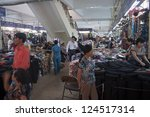 hanoi   august 9  people shop... | Shutterstock . vector #124517314