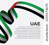 uae flag  vector illustration... | Shutterstock .eps vector #1245174670