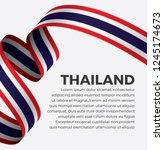 thailand flag  vector... | Shutterstock .eps vector #1245174673