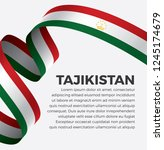 tajikistan flag  vector... | Shutterstock .eps vector #1245174679