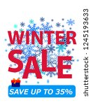 happy winter sale promotion... | Shutterstock .eps vector #1245193633