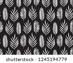 hand drawn pattern with... | Shutterstock . vector #1245194779