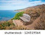 Bench Overlooking Ocean ...