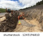 excavation and backfilling of... | Shutterstock . vector #1245196810