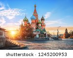 St. Basil\'s Cathedral On Red...