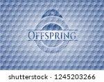 offspring blue emblem with... | Shutterstock .eps vector #1245203266