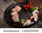 caprese appetizer with... | Shutterstock . vector #1245205549