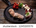caprese appetizer with... | Shutterstock . vector #1245205570