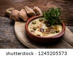 ratatouille baked in the oven... | Shutterstock . vector #1245205573