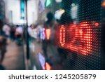 financial stock exchange market ...   Shutterstock . vector #1245205879