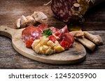 arrangement of delicatessen... | Shutterstock . vector #1245205900