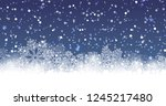 winter background with... | Shutterstock .eps vector #1245217480