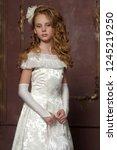 victorian portrait of a girl in ... | Shutterstock . vector #1245219250