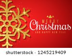 merry christmas and happy new... | Shutterstock .eps vector #1245219409