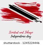 trinidad and tobago... | Shutterstock .eps vector #1245224446