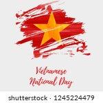 vietnamese national day... | Shutterstock .eps vector #1245224479