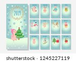 calendar with christmas holiday ... | Shutterstock .eps vector #1245227119
