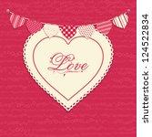 valentine background with love... | Shutterstock .eps vector #124522834