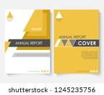 yellow marketing cover design... | Shutterstock . vector #1245235756