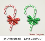 christmas two realistic candy... | Shutterstock . vector #1245235930