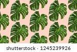 seamless pattern of leaves... | Shutterstock .eps vector #1245239926