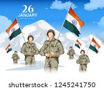 illustration of indian army... | Shutterstock .eps vector #1245241750