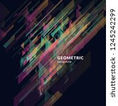 geometric background in bright... | Shutterstock .eps vector #1245242299