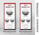 roll up banner design template  ...   Shutterstock .eps vector #1245244666