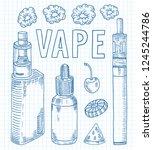 vaporizer shop. beautiful...   Shutterstock .eps vector #1245244786