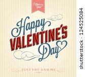 happy valentine's day hand... | Shutterstock .eps vector #124525084