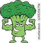 cartoon illustration of a...   Shutterstock .eps vector #1245256756