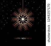 happy new year card design with ... | Shutterstock .eps vector #1245257170