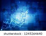 2d rendering stock market... | Shutterstock . vector #1245264640