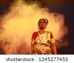senior mohiniyattam dancer... | Shutterstock . vector #1245277453