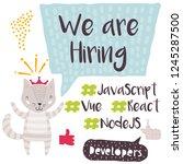 we are hiring design for social ...   Shutterstock .eps vector #1245287500