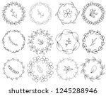 set of wreaths  includes... | Shutterstock .eps vector #1245288946