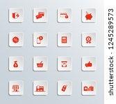 shopping icon set. | Shutterstock .eps vector #1245289573