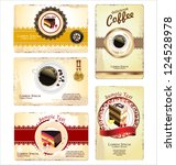 coffee tea and cakes menu or... | Shutterstock .eps vector #124528978