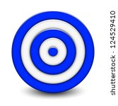 vector illustration of 3d target | Shutterstock .eps vector #124529410