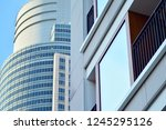 view of modern glass skyscraper ... | Shutterstock . vector #1245295126