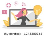 call service and customer... | Shutterstock .eps vector #1245300166