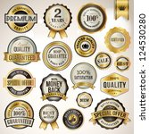 set of luxury badges and... | Shutterstock .eps vector #124530280