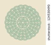mandala   round design template | Shutterstock .eps vector #124530490