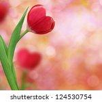 Tulip In Shape Of A Heart