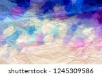 crinkled paper background with... | Shutterstock . vector #1245309586
